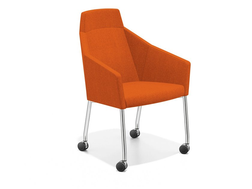 Easy chair with casters high-back PARKER III | Easy chair with casters - Casala