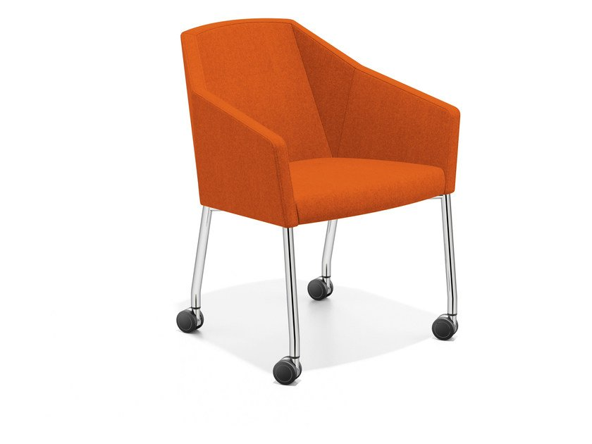 Fabric easy chair with casters PARKER III | Easy chair with casters by Casala