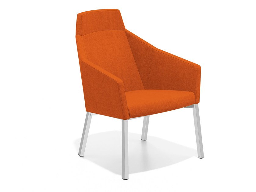 Fabric easy chair high-back PARKER III | Easy chair high-back - Casala