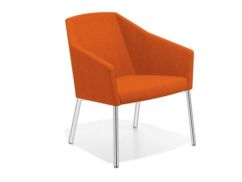 Fabric easy chair with armrests PARKER III | Fabric easy chair - Casala