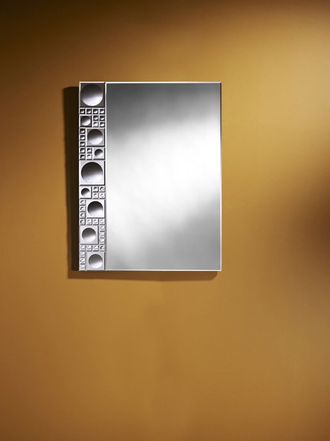 Contemporary style rectangular wall-mounted mirror LOLLI | Rectangular mirror - DEKNUDT MIRRORS