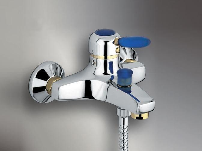 2 hole wall-mounted bathtub mixer IRIDE | Bathtub mixer - Giulini G. Rubinetteria