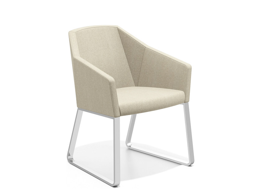 Sled base fabric easy chair PARKER IV | Sled base easy chair by Casala