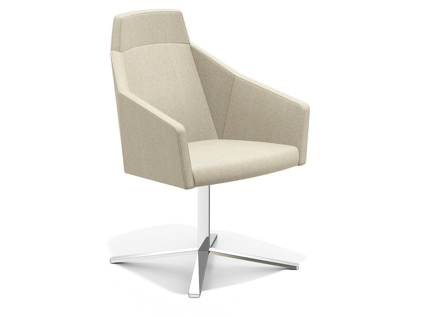 Easy chair with 4-spoke base high-back PARKER IV | Easy chair with 4-spoke base - Casala