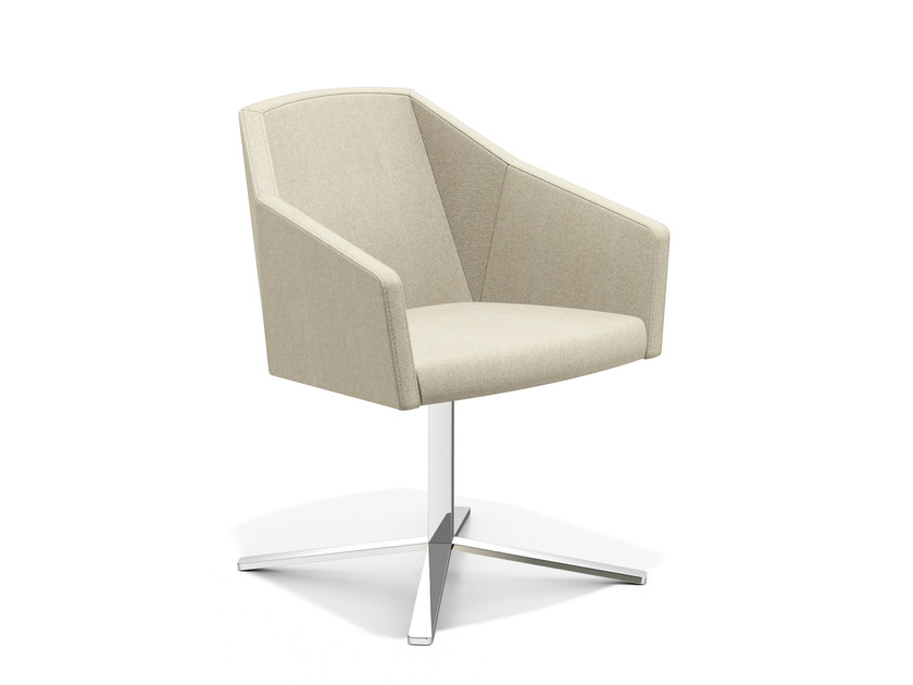 Easy chair with 4-spoke base with armrests PARKER IV | Easy chair with 4-spoke base - Casala