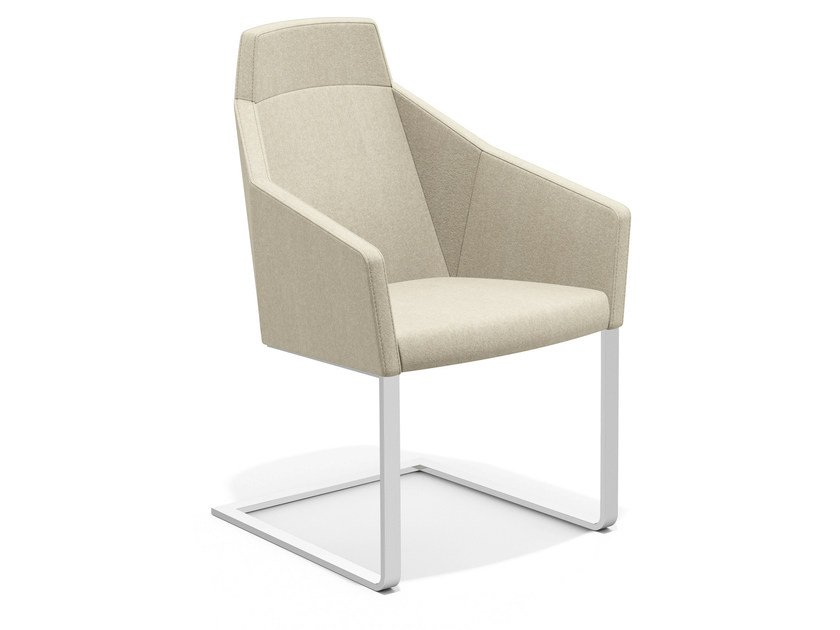 Cantilever easy chair high-back PARKER IV | Cantilever easy chair - Casala