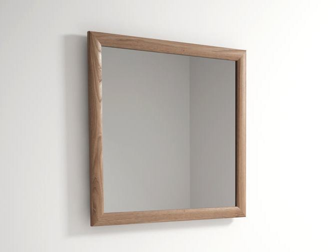 Square wall-mounted framed mirror VINTAGE | Wall-mounted mirror by KARPENTER