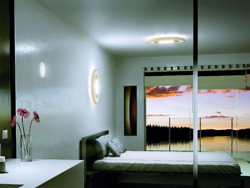 Wooden ceiling light ROSONA PL - Vetreria Vistosi