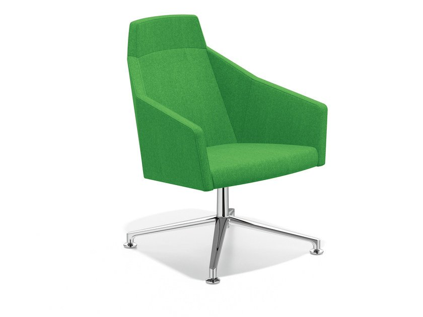 Easy chair with 4-spoke base high-back PARKER VI | Easy chair with 4-spoke base - Casala
