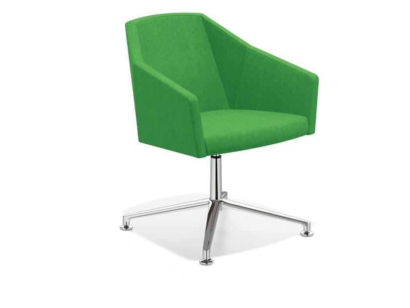 Swivel easy chair with 4-spoke base PARKER VI | Easy chair with 4-spoke base - Casala