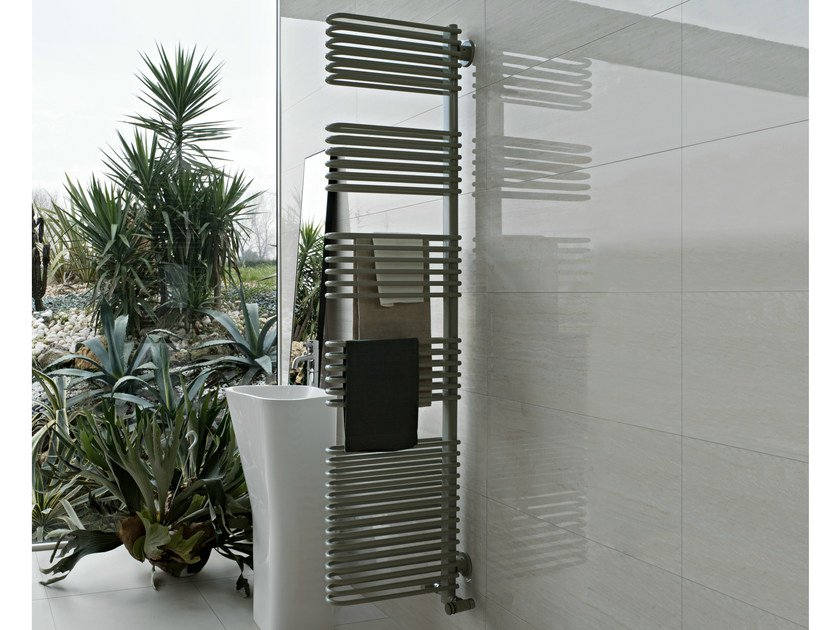 Contemporary style wall-mounted steel towel warmer TOTEM by Tubes Radiatori