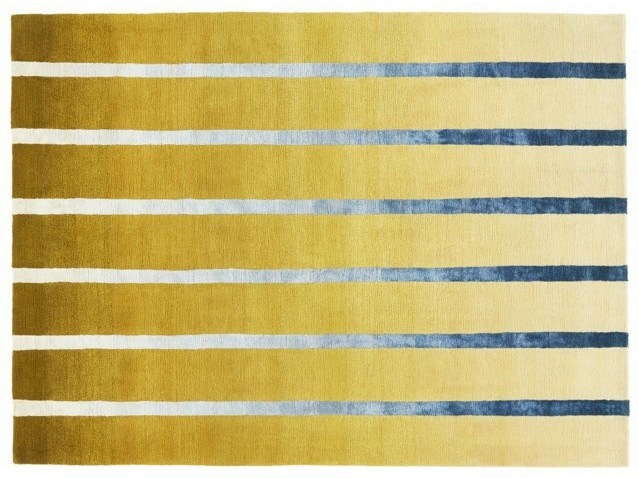 Handmade striped custom rug DAWN - Deirdre Dyson