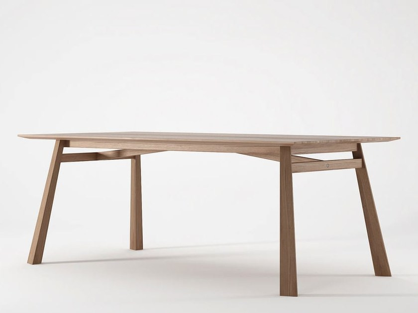 Rectangular wooden dining table CARPENTER by KARPENTER
