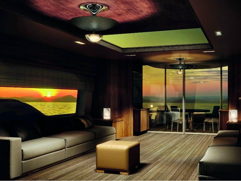 Carbon fibre ceiling lamp UMBRELLA PL - Vetreria Vistosi