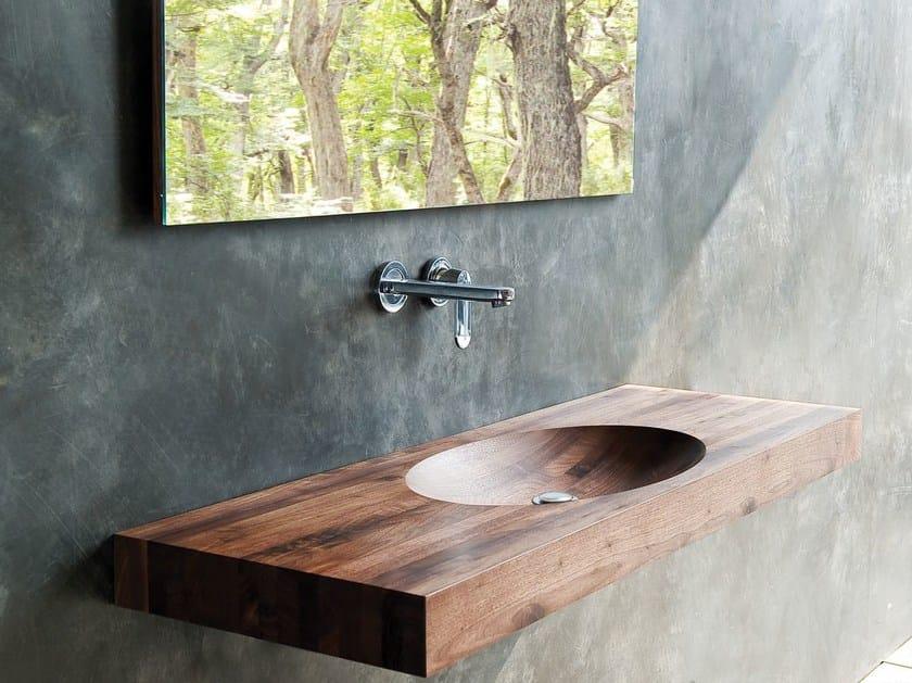 Single wooden washbasin countertop BILLIE | Single washbasin countertop - KARPENTER