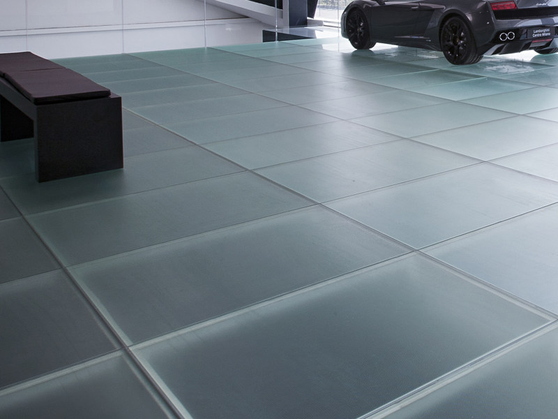 Anti-slip glass MADRAS® PIXEL FLOORING - Vitrealspecchi