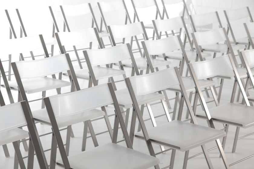 Folding polyethylene training chair POCKET CONFERENCE by arrmet