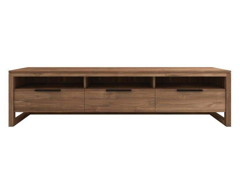 Low teak TV cabinet TEAK LIGHT FRAME   Low TV cabinet - Ethnicraft