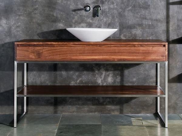 Floor-standing wooden vanity unit with drawers DUKE | Floor-standing vanity unit - KARPENTER