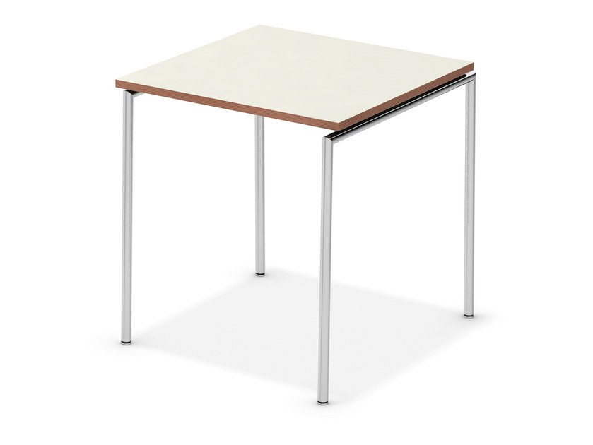 Lacquered square meeting table TAVO NESTABLE | Square meeting table - Casala