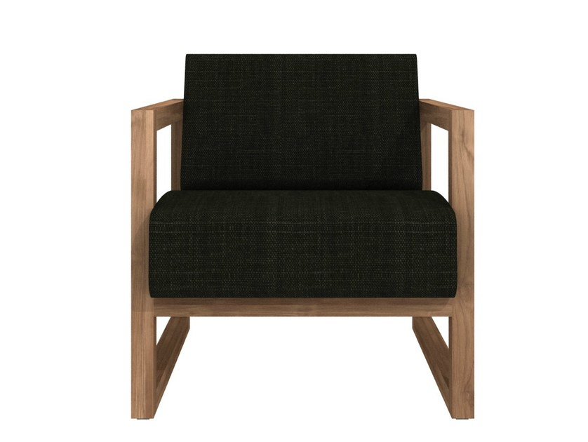 Upholstered armchair with armrests TEAK SQUARE ROOT | Armchair by Ethnicraft
