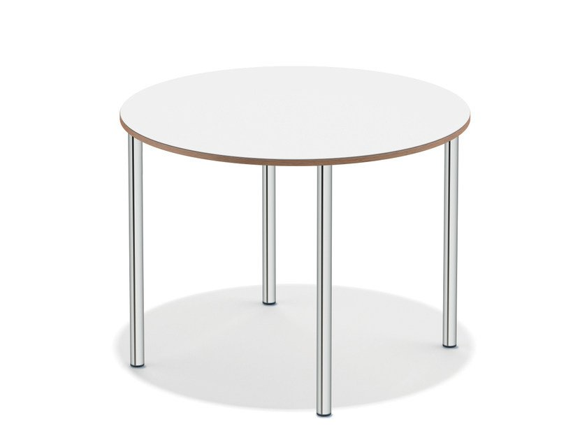 Lacquered round meeting table WISHBONE I | Round meeting table - Casala