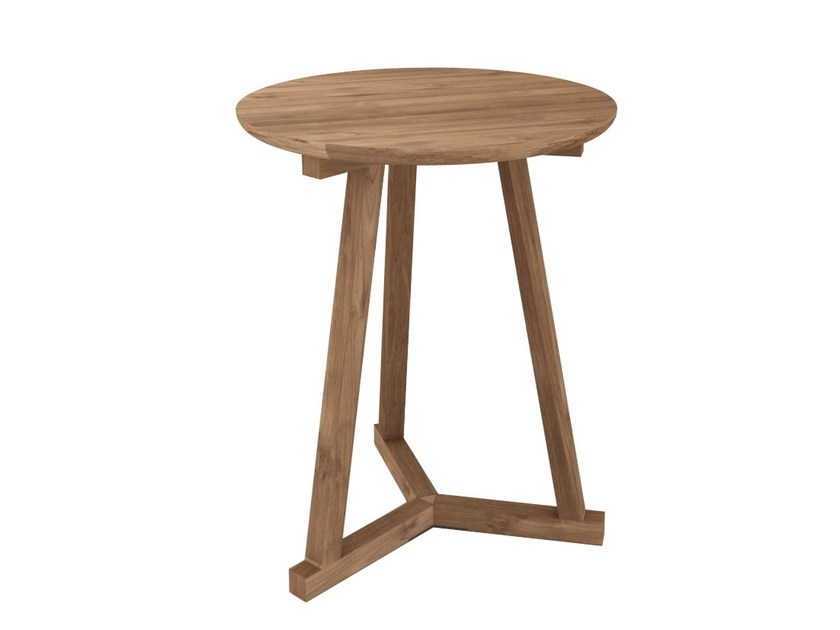 Round teak coffee table TEAK TRIPOD | Coffee table by Ethnicraft