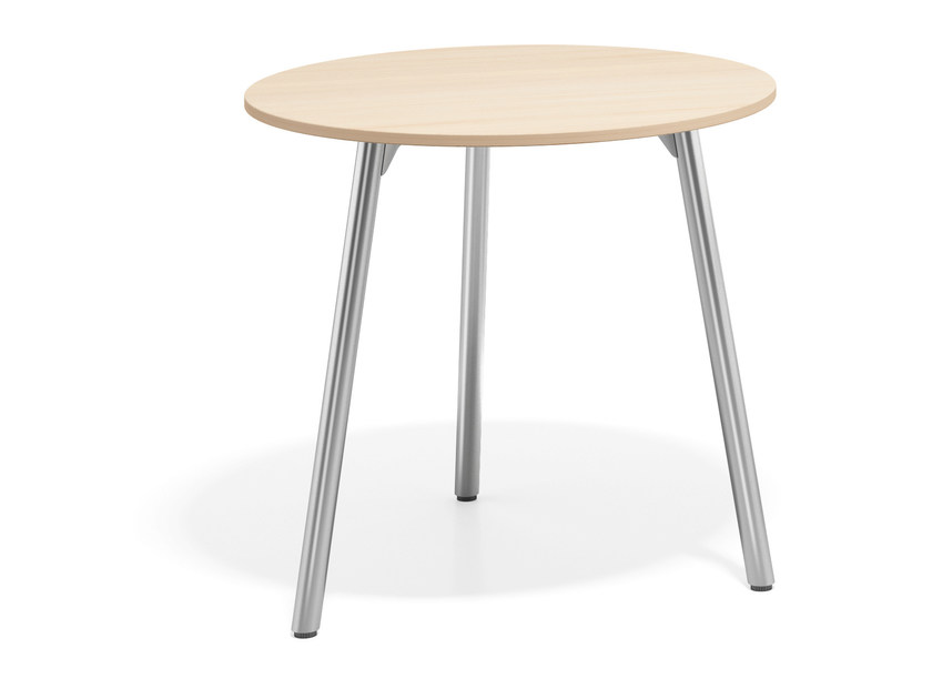 Round wooden table WISHBONE III | Round table - Casala
