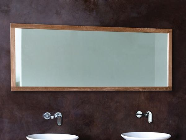 Miroir mural avec cadre pour salle de bain collection monk for Miroir indonesia