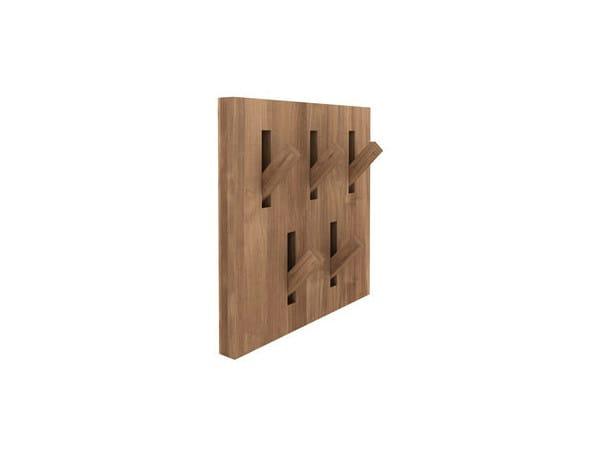 Wall-mounted teak coat rack TEAK UTILITILES | Coat rack by Ethnicraft