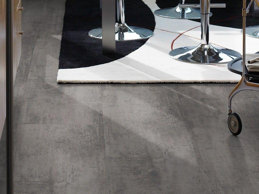 Laminate flooring with stone effect CONCRETE MEDIUM GREY - Pergo