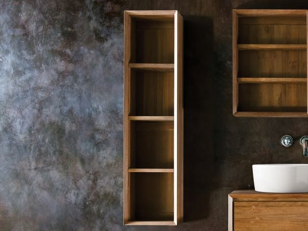 Open wooden wall cabinet with shelves TAYLOR | Wall cabinet - KARPENTER
