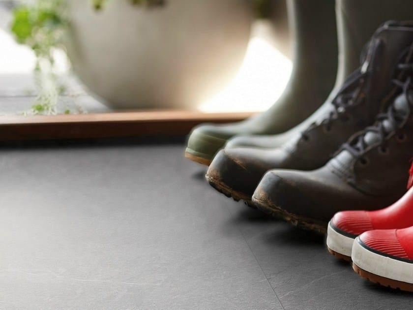 Laminate flooring with stone effect LIGHT GREY SLATE - Pergo