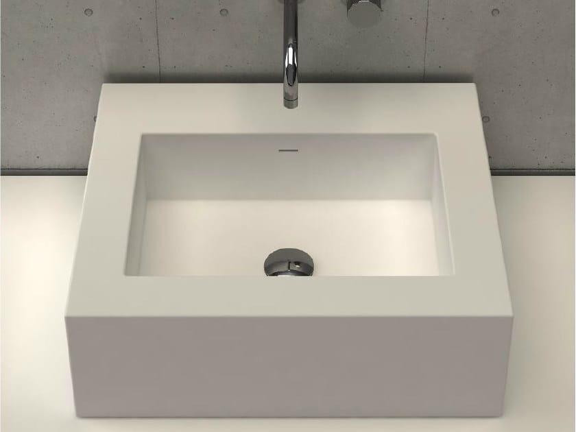 Countertop rectangular washbasin PLATINUM BASIN 2 by DIMASI BATHROOM