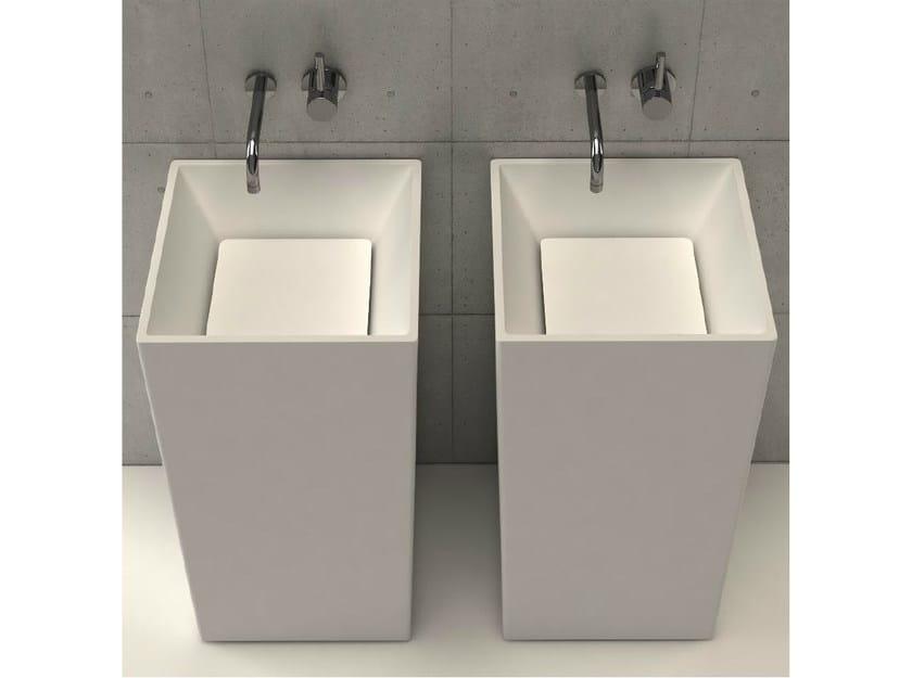 Freestanding square washbasin PLATINUM TOWER - DIMASI BATHROOM by Archiplast