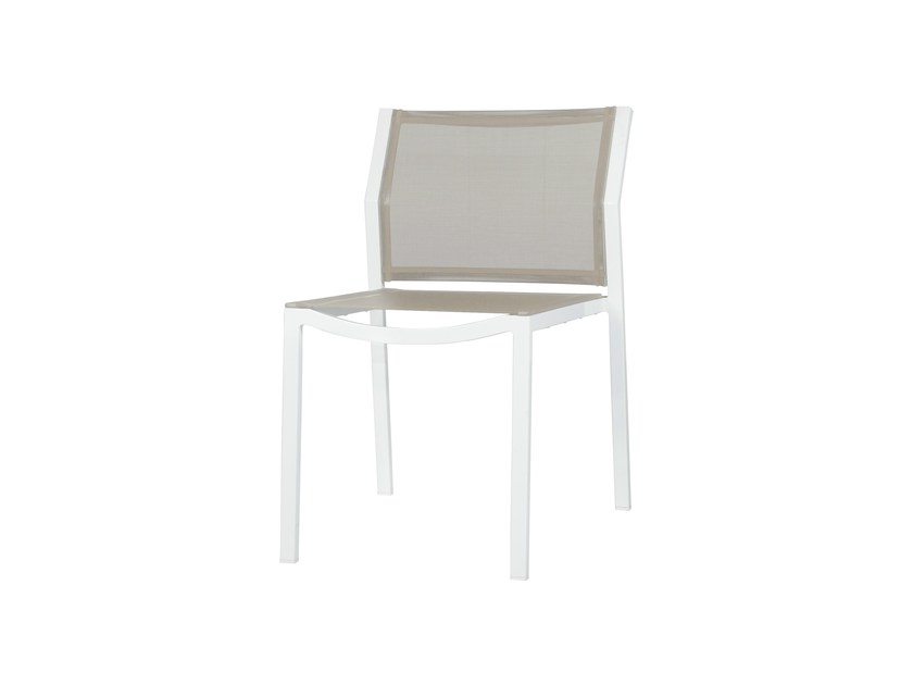 Stackable aluminium garden chair ALLUX | Stackable dining side chair - MAMAGREEN