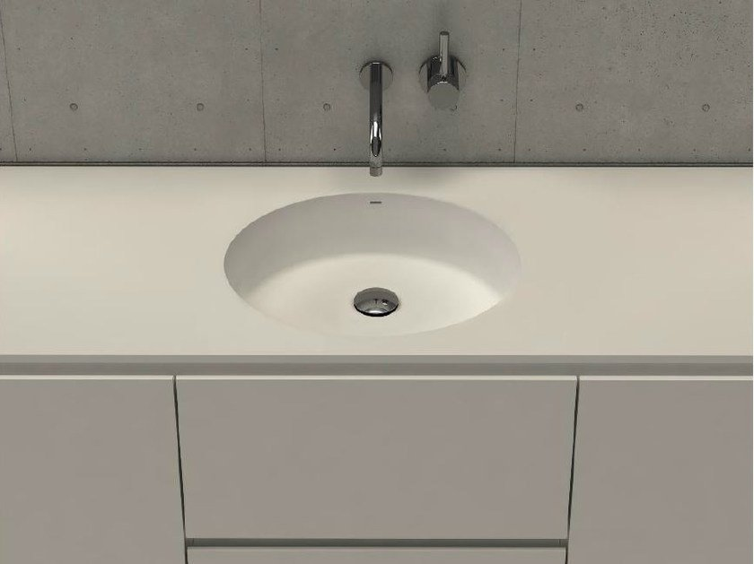 Inset round washbasin with integrated countertop CIRCLE TOP - DIMASI BATHROOM by Archiplast
