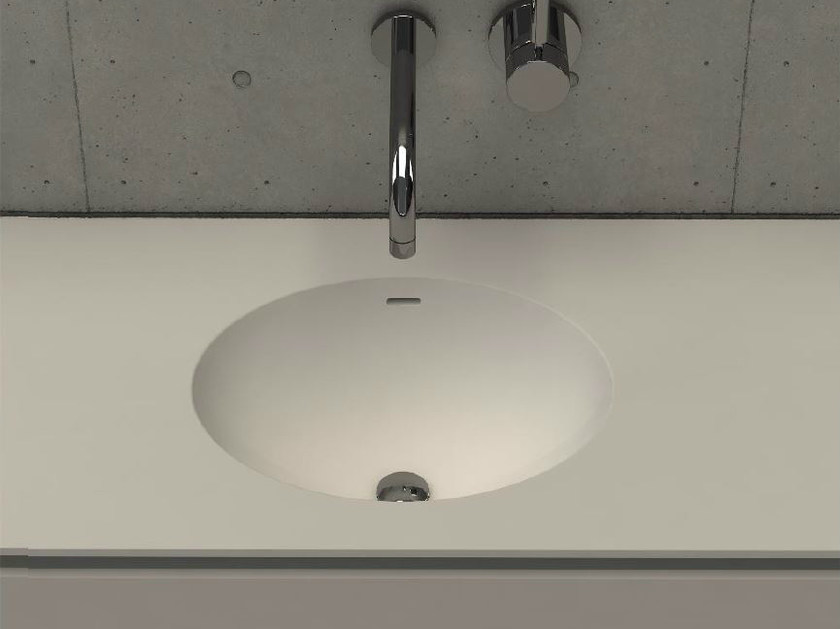 Inset oval washbasin with integrated countertop ELI TOP - DIMASI BATHROOM by Archiplast