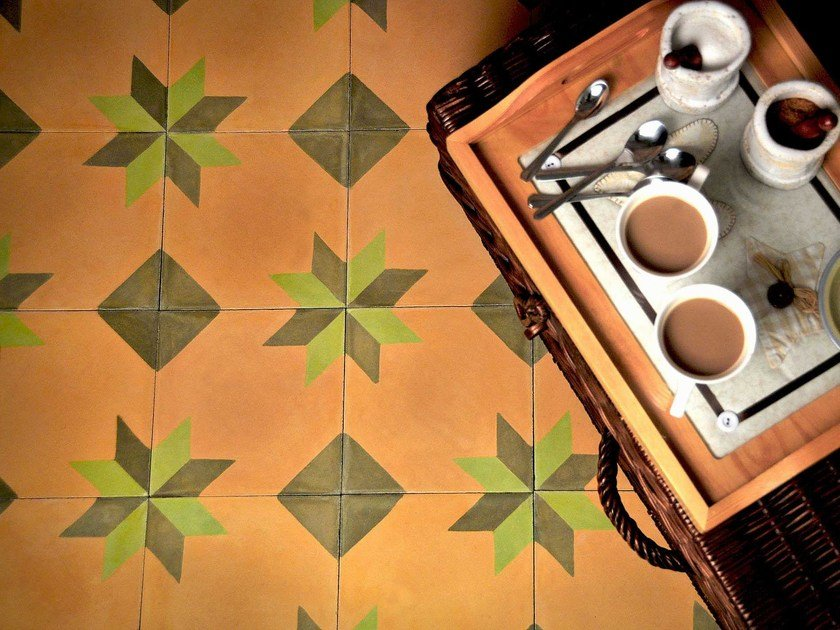 Cement wall tiles / flooring GEO_CB_11 - enticdesigns