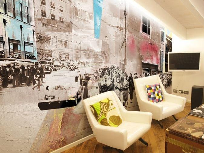 Vinyl wallpaper IVORY TOWN by GLAMORA