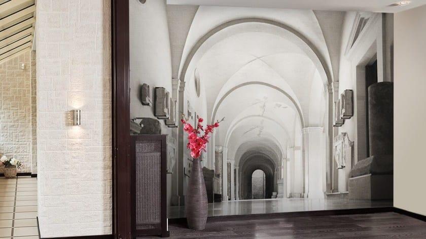 Carta da parati trompe l 39 oeil in vinile domus by glamora for Carta parati vinile