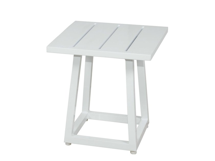 Square aluminium garden side table ALLUX | Side Table - MAMAGREEN