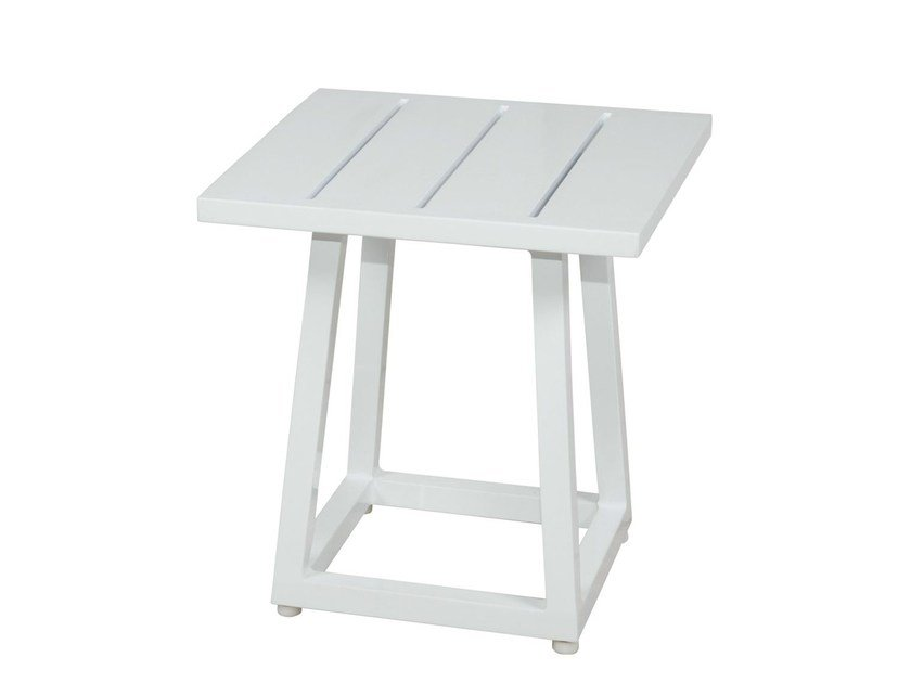 Square aluminium garden side table ALLUX Side Table Small 42x42 cm by MAMAGREEN