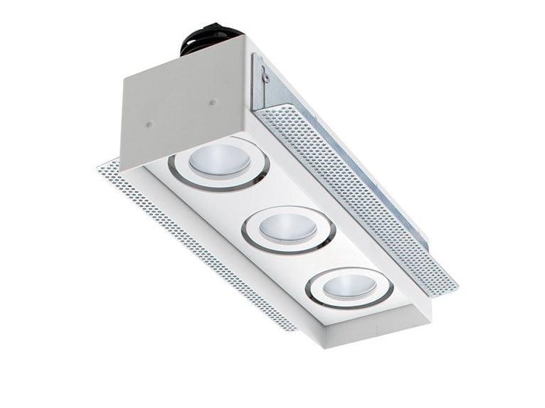 LED multiple recessed spotlight Quad Maxi 2.3 by L&L Luce&Light