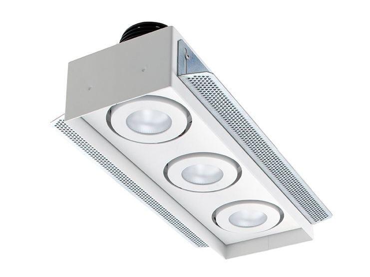 LED multiple recessed spotlight Quad Maxi 4.3 by L&L Luce&Light