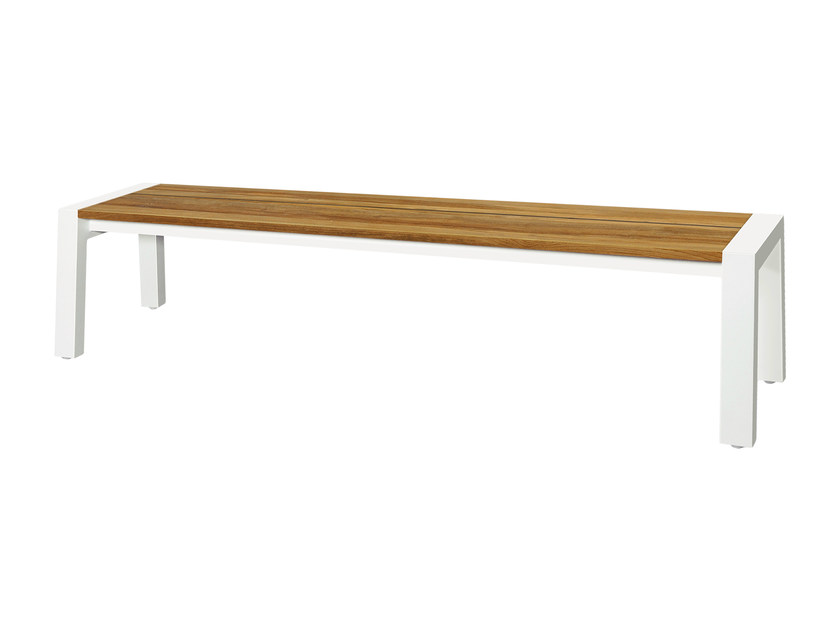 Aluminium and wood garden bench BAIA | Bench 205 cm - MAMAGREEN