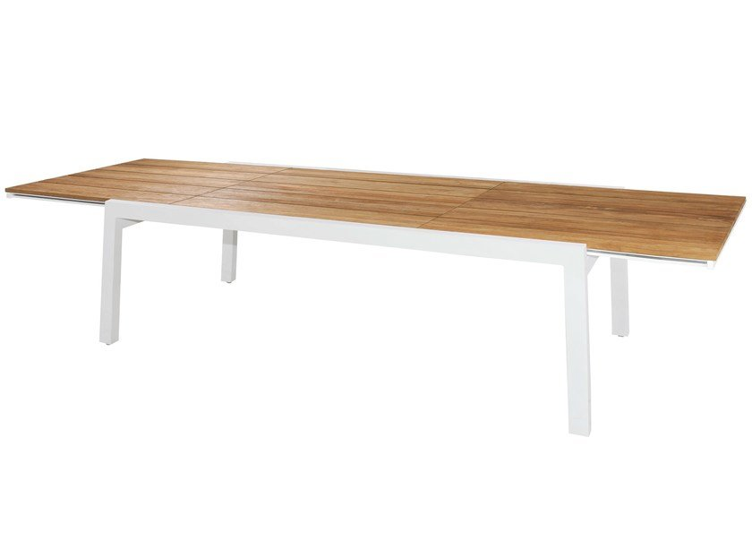 Extending aluminium and wood garden table BAIA | Extension Table 230 cm - MAMAGREEN