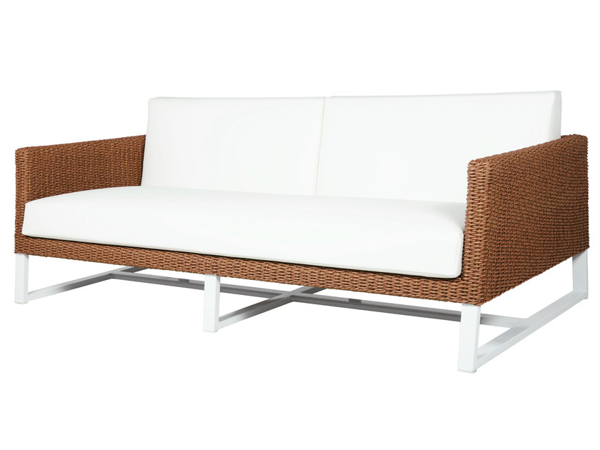 Sled base 2 seater wicker garden sofa BAIA | 2 seater sofa - MAMAGREEN