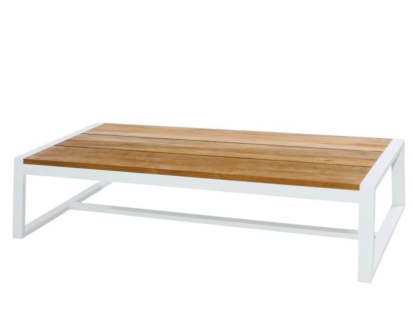 Rectangular aluminium and wood coffee table BAIA | Coffee table - MAMAGREEN