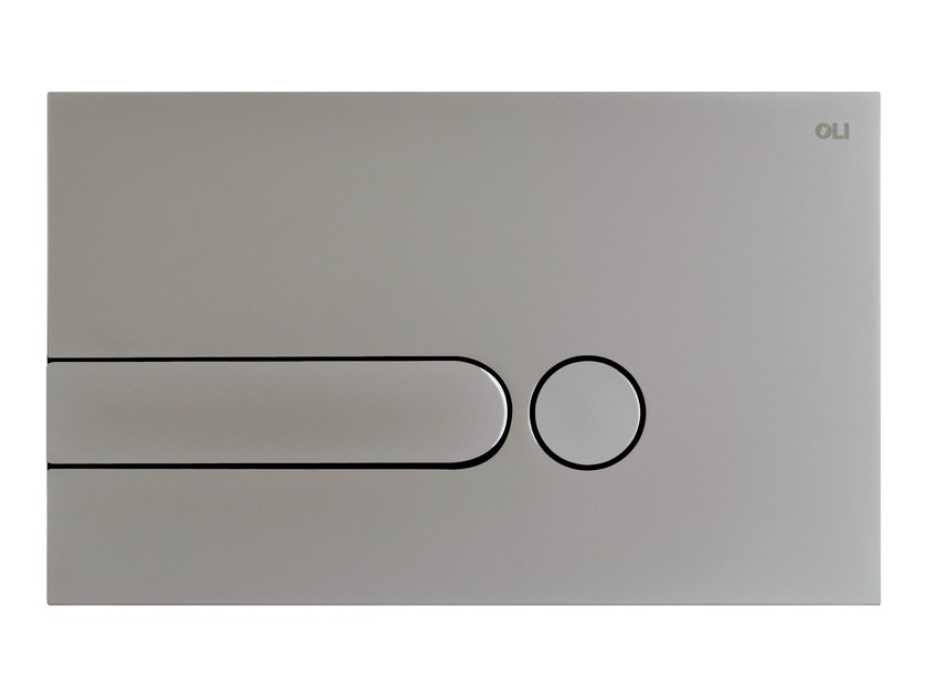 Brushed steel flush plate IPLATE | Brushed steel flush plate by OLI